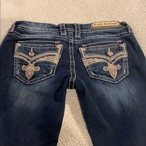 Rock revival crop jeans